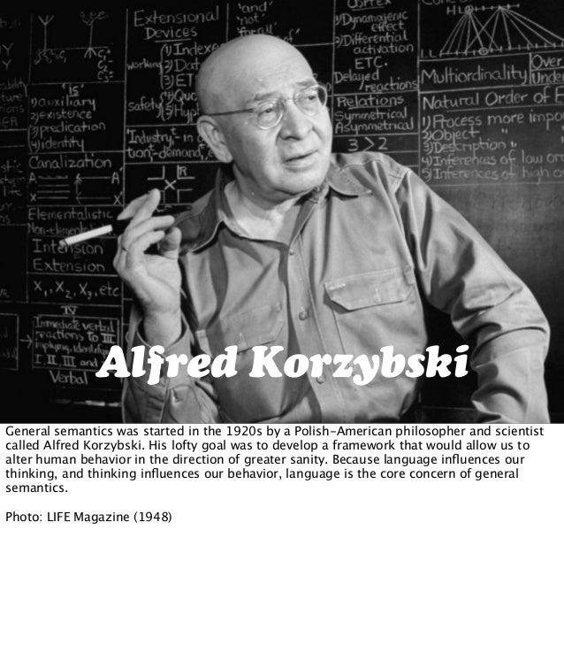 General semantics alfred korzybski dating 1