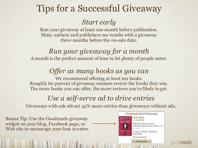 How to get reviews on goodreads giveaways