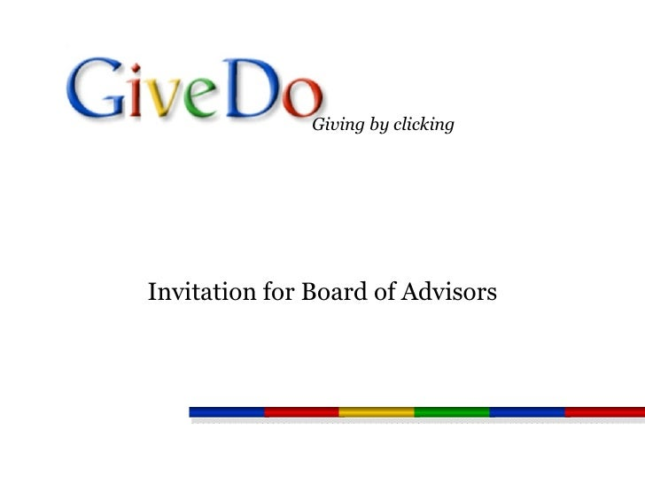 Invitation for Board of Advisors Giving by clicking