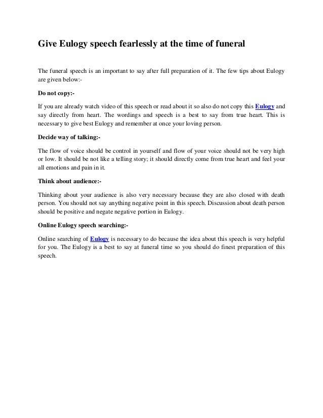 PRE-WRITTEN EULOGIES & FUNERAL POEMS
