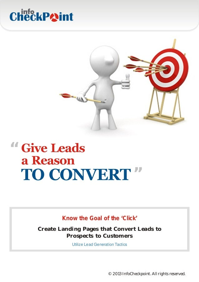 """""""                                                 """"            Know the Goal of the 'Click'    Create Landing Pages that C..."""