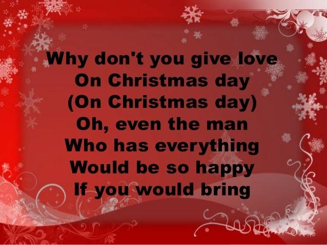 On this christmas day lyrics