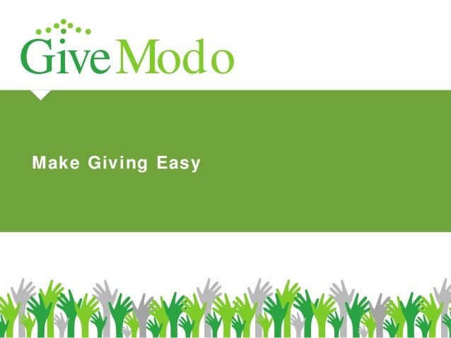 GiveModo Make Giving Easy