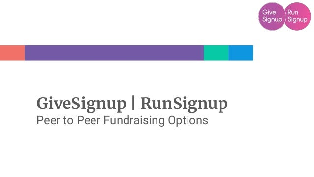 GiveSignup   RunSignup Peer to Peer Fundraising Options