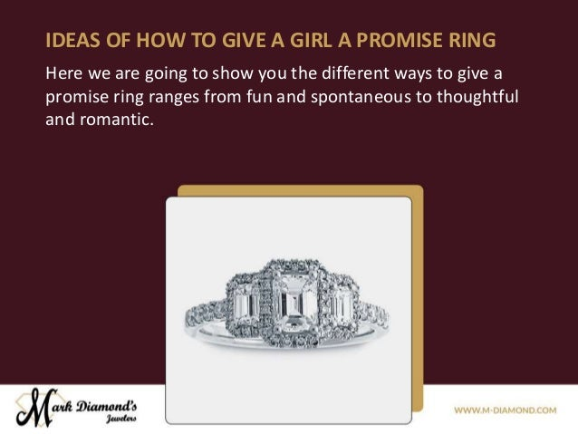 Give promise ring ways a to What Are