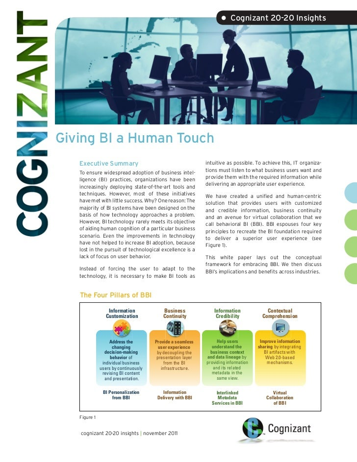 • Cognizant 20-20 InsightsGiving BI a Human Touch   Executive Summary                                        intuitive as ...