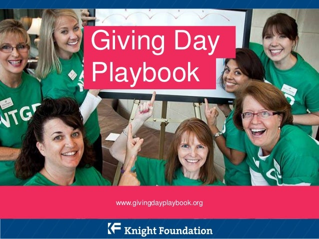 Giving Day Playbook  www.givingdayplaybook.org