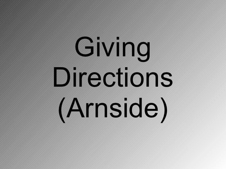 Giving Directions (Arnside)