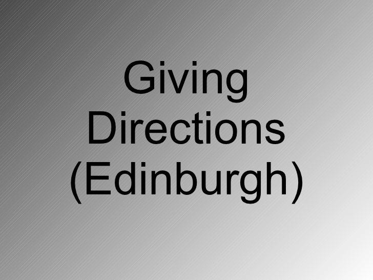 Giving  Directions (Edinburgh)