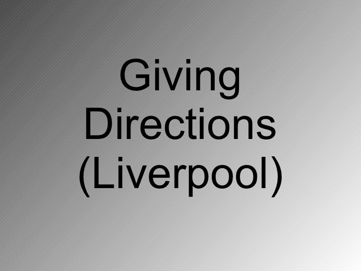 Giving Directions (Liverpool)