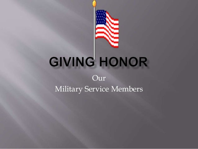 Giving Honor Commemorative Speech