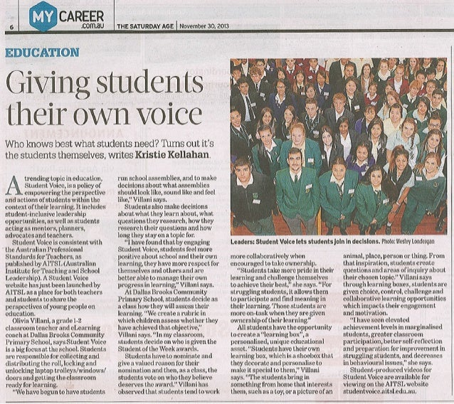 Giving students their own voice