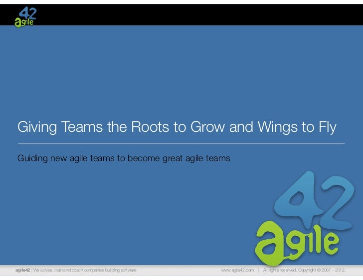 Giving Teams the Roots to Grow and Wings to FlyGuiding new agile teams to become great agile teamsagile42 | We advise, tra...