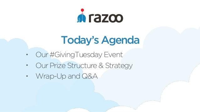 Razoo giving tuesday prizes to win