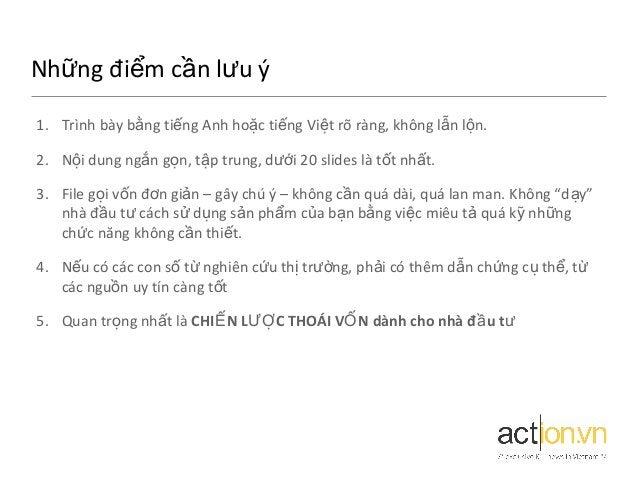 Những điểm cần lưu ý 1. Trình bày bằng tiếng Anh hoặc tiếng Việt rõ ràng, không l ẫn l ộn. 2. Nội dung ngắn gọn, tập trung...