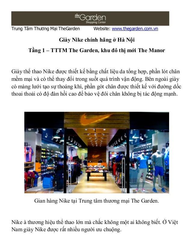 Trung Tâm Thương Mại TheGarden     Website: www.thegarden.com.vn                    Giày Nike chính hãng ở Hà Nội       Tầ...