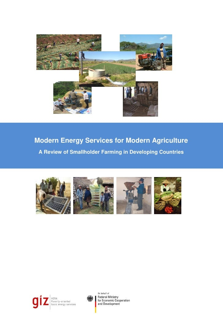 Modern Energy Services for Modern Agriculture A Review of Smallholder Farming in Developing Countries