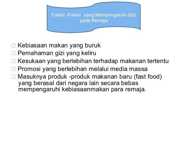 Faktor faktor yang Mempengaruhi Obesitas pada Remaja