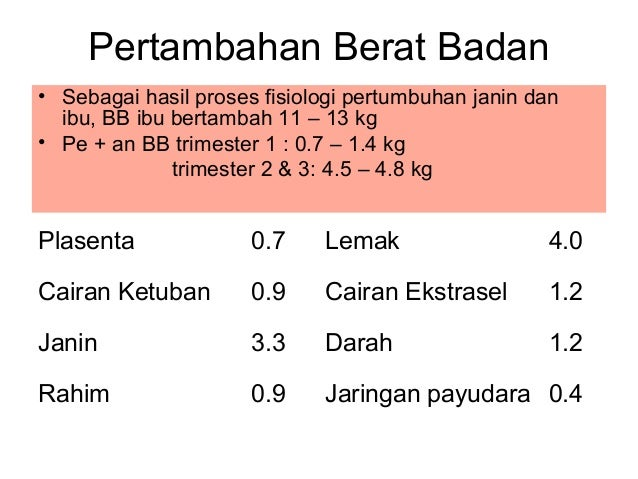 Berapa Berat Badan Selama Hamil yang Normal dan Ideal ?