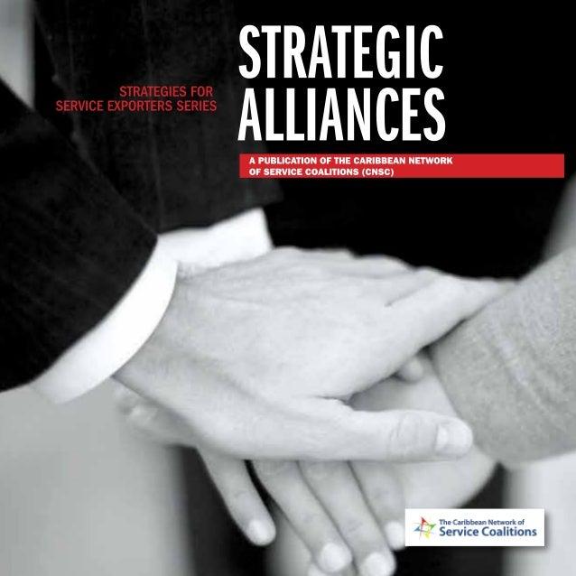 IStrategic Alliances: Strategies for Service Exporters Series