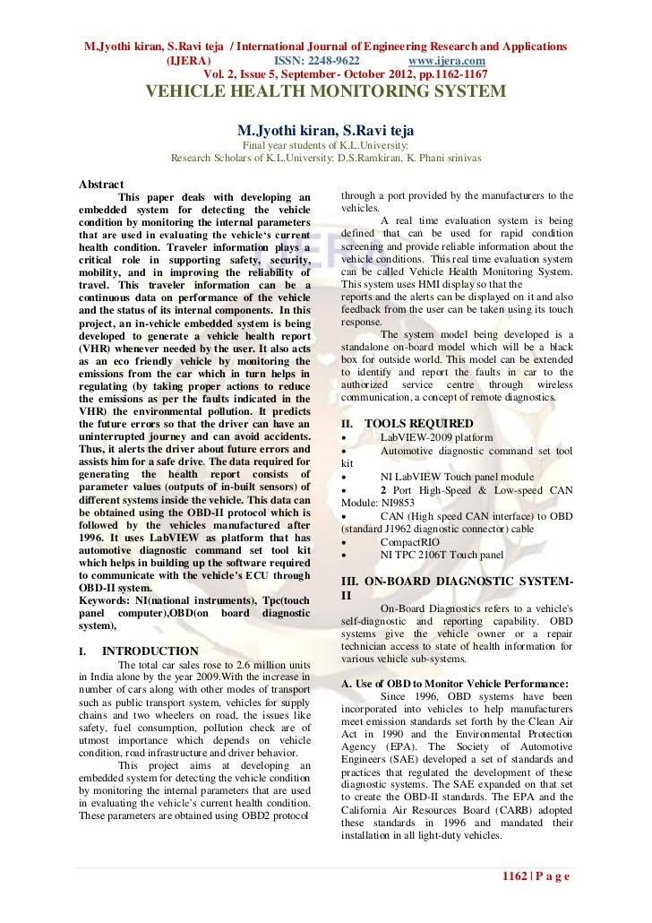 M.Jyothi kiran, S.Ravi teja / International Journal of Engineering Research and Applications                 (IJERA)      ...