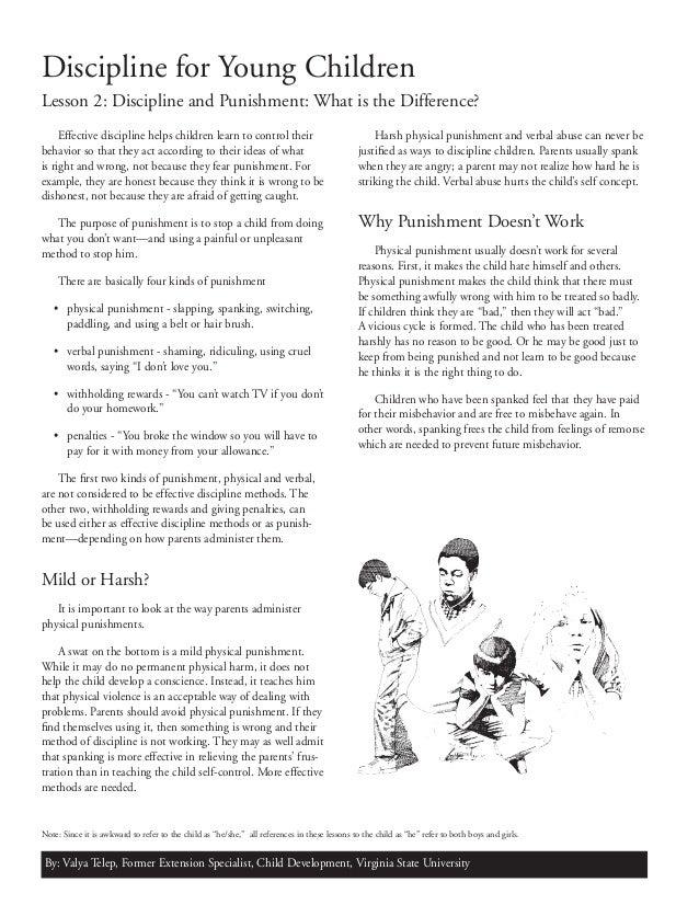 concept paper for corporal punishment