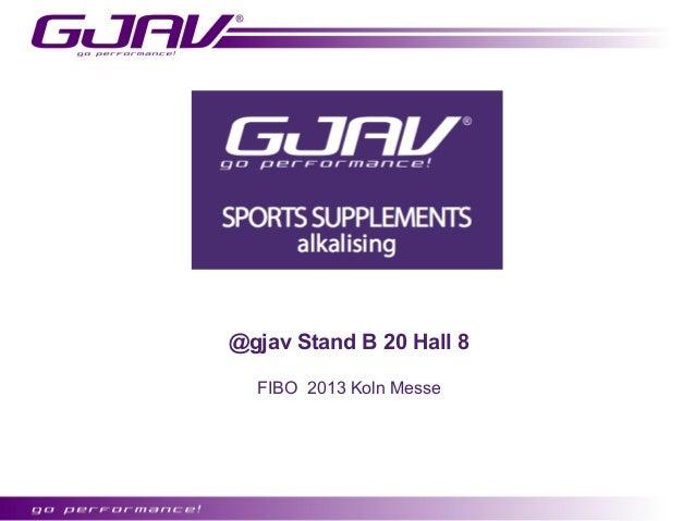 @gjav Stand B 20 Hall 8  FIBO 2013 Koln Messe