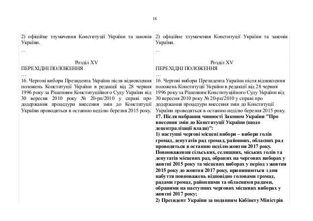 2) офіційне тлумачення Конституції України та законів України. … 2) офіційне тлумачення Конституції України та законів Укр...