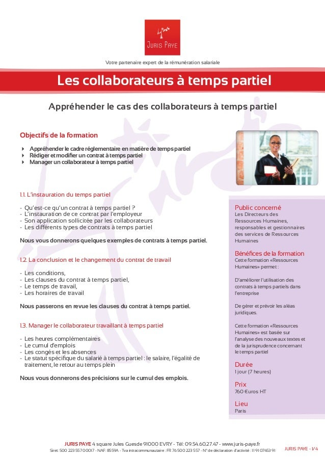 Votre partenaire expert de la rémunération salariale  Les collaborateurs à temps partiel  Appréhender le cas des collabora...