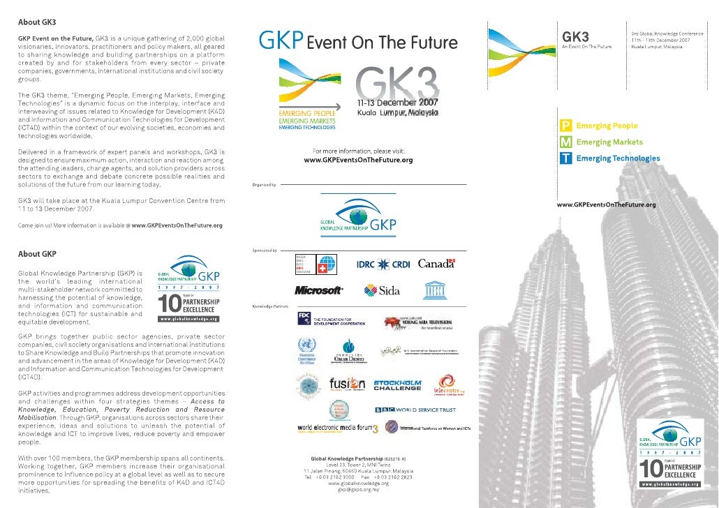 GK3 Global Knowledge Partnership Event on the Future