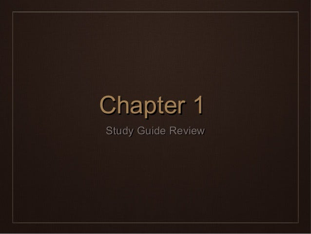 Chaper 5 study guide