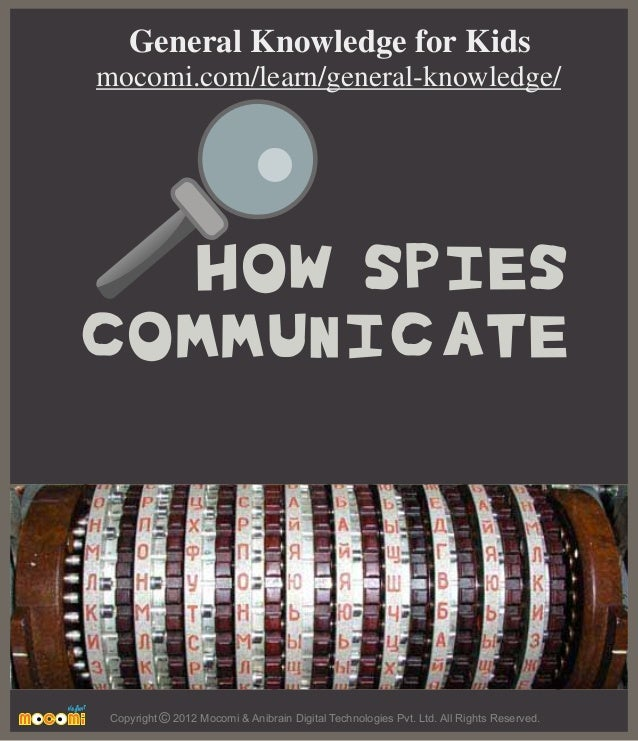 HOW SPIES COMMUNICATE Copyright 2012 Mocomi & Anibrain Digital Technologies Pvt. Ltd. All Rights Reserved.© General Knowle...