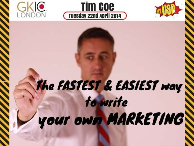 The Easiest & Fastest Way to Write your Own Marketing