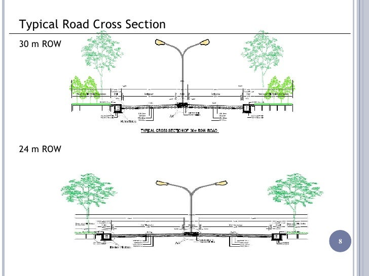 Typical Road Cross Section 30 M ROW 24