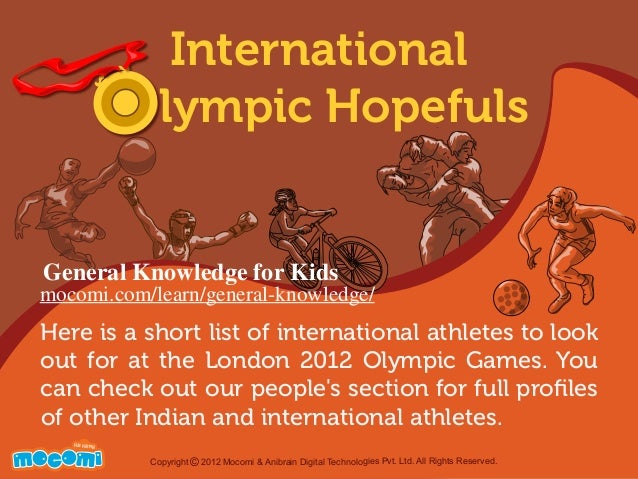 Here is a short list of international athletes to look out for at the London 2012 Olympic Games. You can check out our peo...