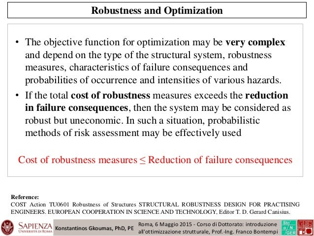 Structural robustness and sustainability of structures