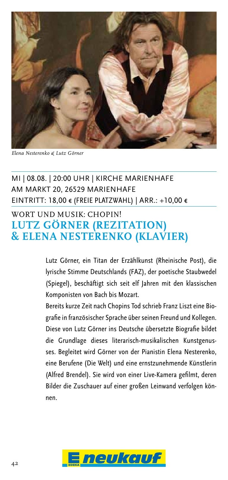 Christian Tetzlaff | Foto: Giorgia BertazziDo | 16.08. | 20:00 Uhr | Kirche RemelsOstertorstrasse, 26670 Uplengen RemelsEi...