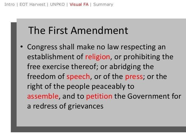 1st amendment summary
