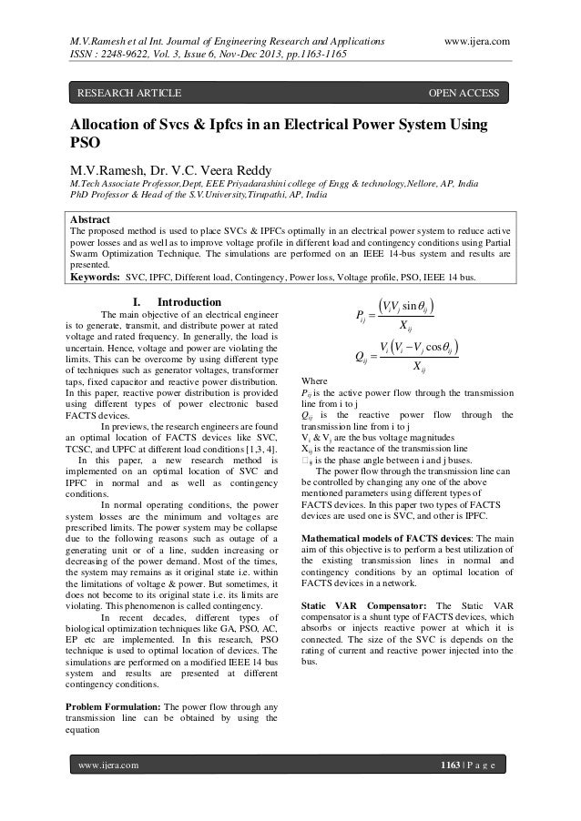M.V.Ramesh et al Int. Journal of Engineering Research and Applications ISSN : 2248-9622, Vol. 3, Issue 6, Nov-Dec 2013, pp...