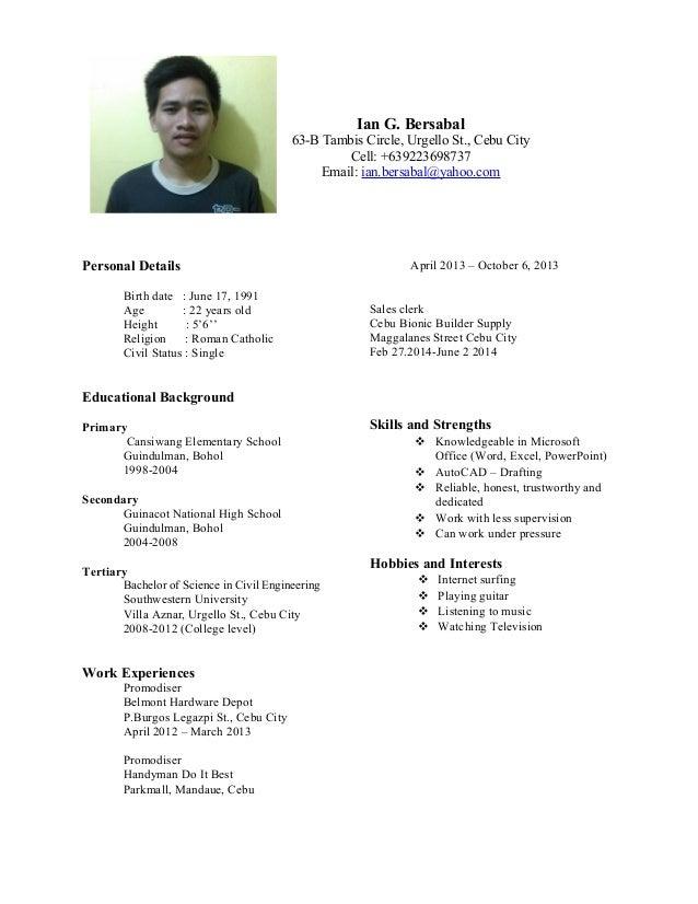 Promodiser resume