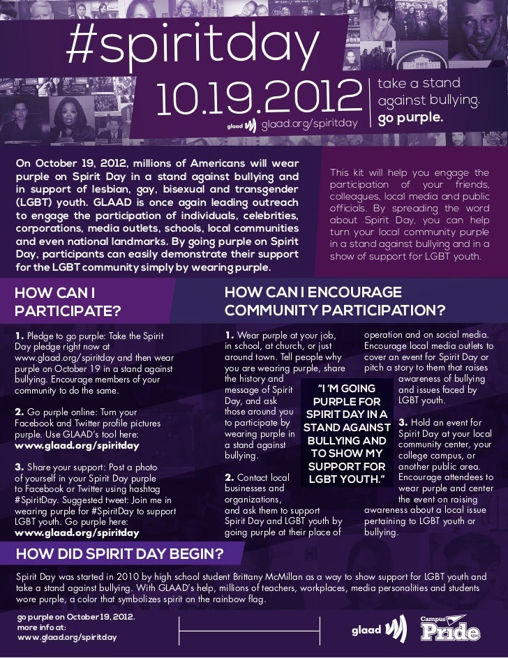 #spiritday                                    10.19.2012                                                                  ...
