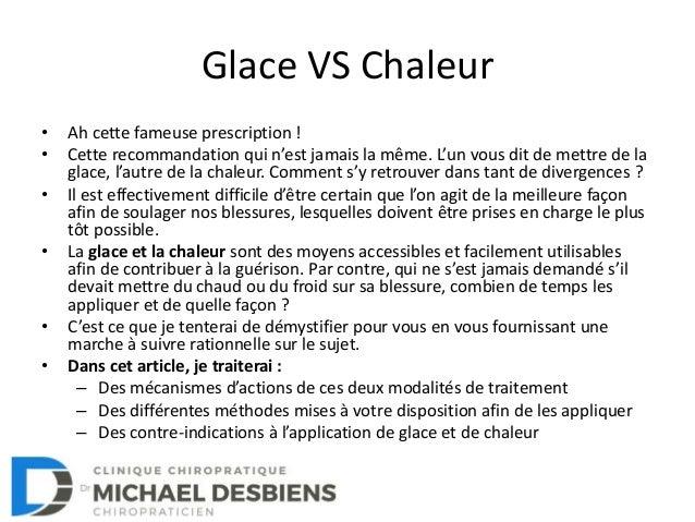 Glace VS chaleur: Comment choisir? Slide 2