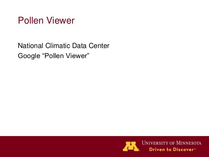 Pollen Viewer                   American Indian                                lands by treatyNational Climatic Data Cente...