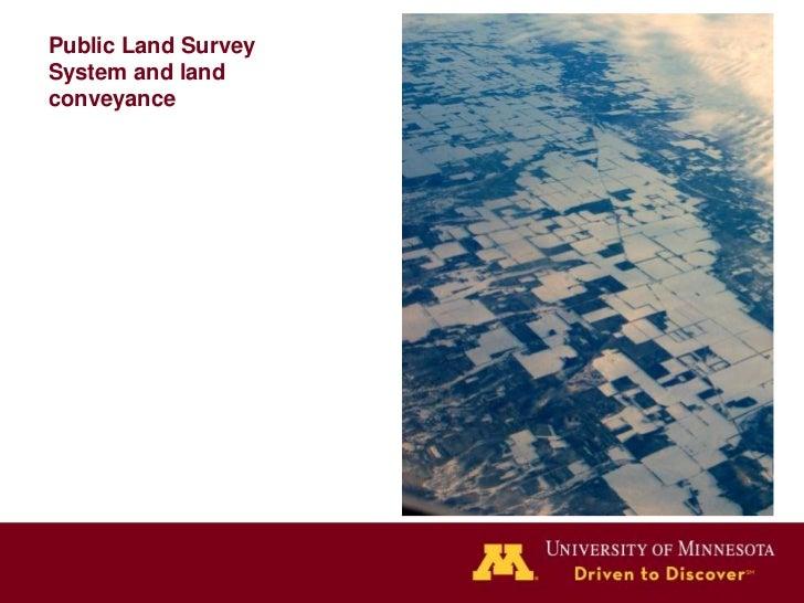 Public Land SurveySystem and landconveyance