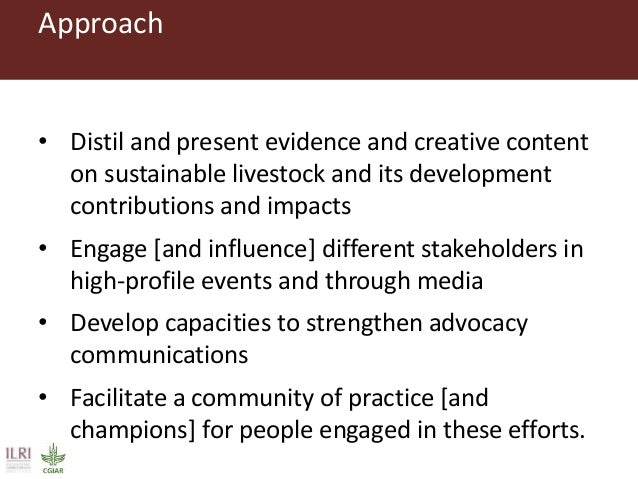 Agenda overview • Introduce us • Introduce the project • Explore livestock issues and advocacy capacities • What the media...
