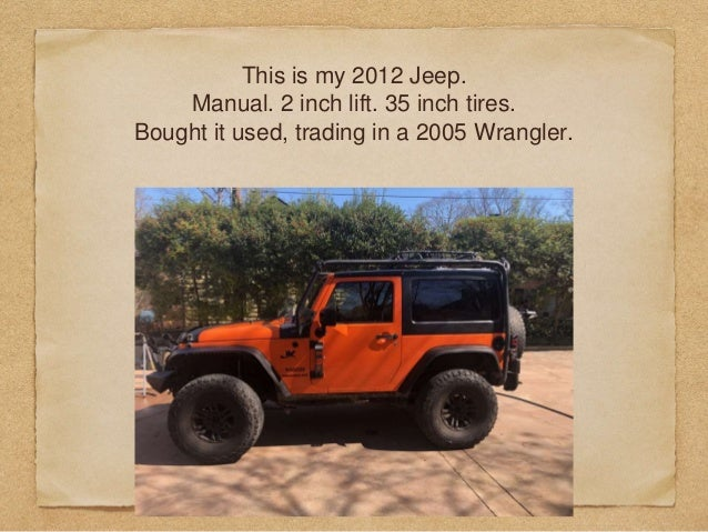 From a Wrangler to a Gladiator. Impressions Slide 3
