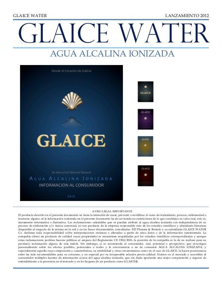 GLAICE WATER                                                                                                        LANZAM...
