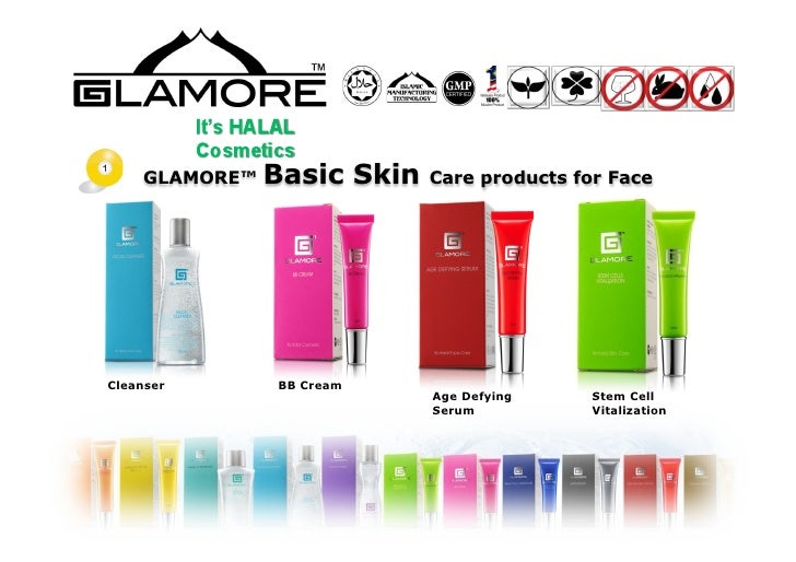 Halal cosmetics and Skin Care product presentation: by Glamore