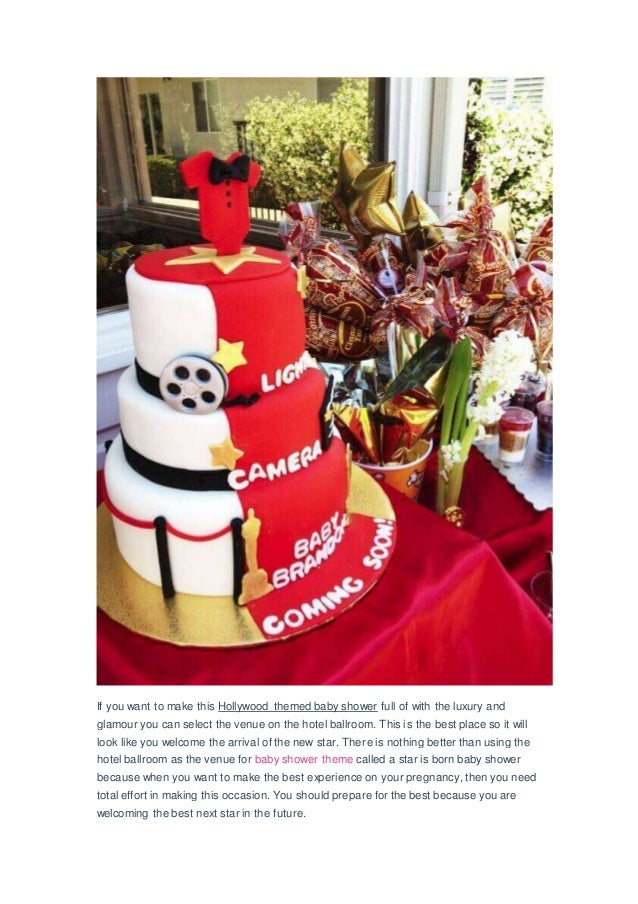 Glamorous A Star Is Born Hollywood Themed Baby Shower