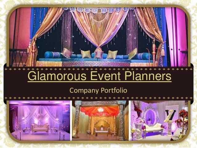 Glamorous Event Planners Company Portfolio
